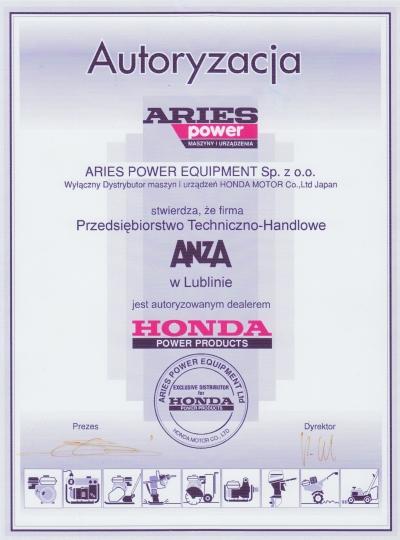Autoryzacja Honda
