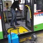 Mycie autobusów MPK
